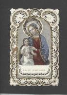 Themes Div-ref CC263- Images Religieuses - Image Religieuse - Image Pieuse - Canivet - Dentelle - Paillettes Et Perles - Santini