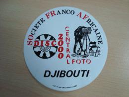 AUTOCOLLANT DISC 2000 SOCIETE FRANCO AFRICAINE DJIBOUTI - Stickers