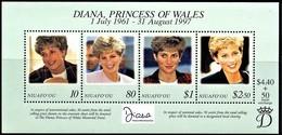 # Niuafo'ou 1998**Mi.330-33  Princess Diana , MNH  [19;144] - Beroemde Vrouwen