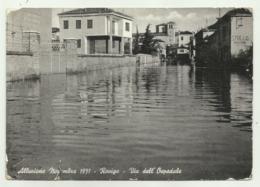 ROVIGO - ALLUVIONE NOVEMBRE 1951 - VIA DELL'OSPEDALE  -  VIAGGIATA FG - Rovigo