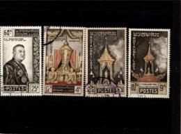 LAOS--N°71 à 74  Oblit -- 1961 --Hommage Au Roi  Sisavang Vong - Laos