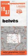 CARTE TOPOGRAPHIQUE IGN - 1 : 50000 BELVES. - Cartes Topographiques