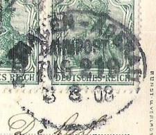 BAD NEUENAHR Ahrpartie Am Kurpark 1908 Zugstempel / Ambulant Remagen - Adenau - Bad Neuenahr-Ahrweiler