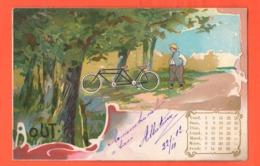 Bici TANDEM Bike Vélos Fahrräder Bicicletas Biciclette 1902 France Post Card - Cartoline