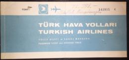 Turkish Airlines Ticket  Ankara - Istanbul 1982 - Billetes De Transporte