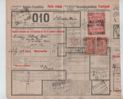 CF22/ TR142(2)-154(2)  S/Bulletin D'expédition Petite Vitesse C.Nord-Belge Val St.Lambert 13/9/35  > St.Nicholas Waes - Nord Belge