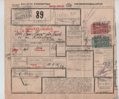 CF23/  TR154-162 S/Bulletin D'expédition Petite Vitesse C.Nord-Belge Sclessin 19/9/35  > St.Nicholas Waes - Nord Belge