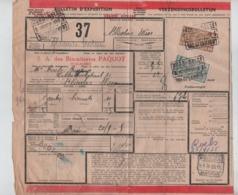 CF24/ TR145-158 S/Bulletin D'expédition Grande Vitesse C.Nord-Belge Val St.Lambert 20/9/35  > St.Nicholas Waes - Nord Belge