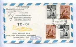 VUELOS ESPECIALES 1970 - PRIMER ATERRIZAJE EN BASE AEREA MARAMBIO DEL HERCULES C-130E. ANTÁRTIDA ARGENTINA. CARTE -LILHU - Polar Flights