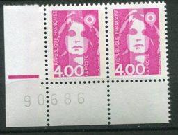 14546 FRANCE N° 2715d **(Maury) 4F Rose Marianne Du Bicentenaire Re-entry (double Frappe) Tenant à Normal  1991   TB/TTB - Variétés Et Curiosités