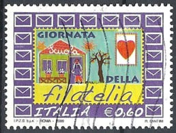 Italia, 2009 PGiornata Della Filatelia, 0.60€ # Sassone 3126 - Michel 3334 - Scott 2965  USATO - 6. 1946-.. República