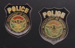 59713-lot De 2 Pin's.police .USA... - Police