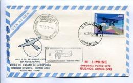VUELOS ESPECIALES 1979 - 50 ANIV VUELO ENSAYO AEROPOSTA COMODORO RIVADAVIA - BS AS. ANTÁRTIDA ARGENTINA. ENVELOPE -LILHU - Polar Flights