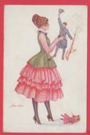 CPA Illustrée XAVIER SAGER - Leurs Poupées Nouvelles -1915 _ 2 SCAN - Sager, Xavier