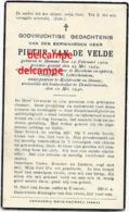 Oorlog Guerre Pieter Van De Velde Hamme Soldaat Brancardier Gesneuveld Te Dendermonde Mei 1940 - Images Religieuses