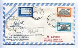 VUELOS ESPECIAL 1979 50° ANIV. VUELO ENSAYO AEROPOSTA. COMODORO RIVADAVIA - BS. AS. ANTÁRTIDA ARGENTINA. ENVELOPE -LILHU - Voli Polari