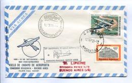 VUELOS ESPECIAL 1979 50° ANIV. VUELO ENSAYO AEROPOSTA. COMODORO RIVADAVIA - BS. AS. ANTÁRTIDA ARGENTINA. ENVELOPE -LILHU - Polar Flights