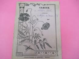 Couverture De Cahier D'écolier/Arts Déco/ Coquelicots/Librairie Papeterie LEMOUES/CHARTRES /1937-1938        CAH233 - Café & Thé
