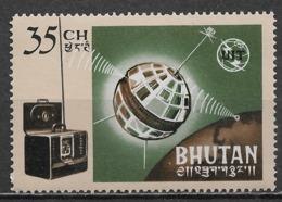 Bhutan 1966. Scott #53 (MNH) Telstar, Short-wave Radio And ITU Emblem - Bhutan