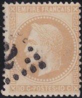 France  .   Yvert   .     28      .     O          .       Oblitéré - 1863-1870 Napoléon III Lauré