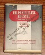 Boite Ancienne De TRI-PENICILINE Du Docteur ROUSSEL Avec Notice - Otros