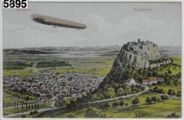 Singen - Hohentwiel - Zeppelin - Lithographie - Singen A. Hohentwiel
