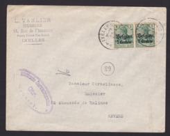 OCCUPATION Lettre De Ixelles Vers Anvers  ( Enveloppe Lsc ) - WW I