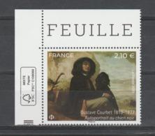"""FRANCE / 2019 / Y&T N° 5333 ** : """"Autoportrait Au Chien Noir"""" (Gustave Courbet) X 1 CdF FSC - Gomme Intacte - France"""