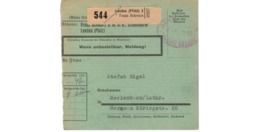 Allemagne  - Colis Postal  Départ Landau 2  --  4/2/1943 - Allemagne