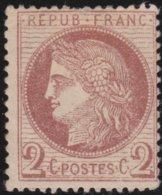 France  .   Yvert   .     51  ( 2 Scans )     .     *            .      Neuf Avec Charniere   .   /   .    Mint-hinged - 1871-1875 Cérès
