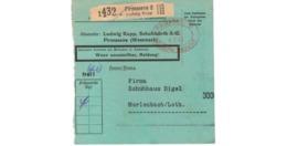 Allemagne  - Colis Postal  Départ Pirmasens 2  ---  6/2/1943 - Allemagne