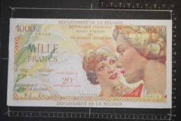 Billet, REUNION, 1000 Francs Contre Valeur De 20 Nouveaux Francs Institut D'Emission Des Départements D'Outre Mer - Reunion