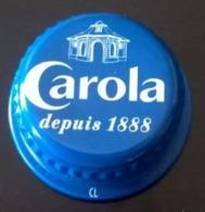 France Capsule à Visser Métallique Carola Bleue Eau De Source D'Alsace Plate - Capsules