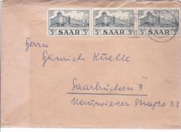 AK-div.26- 229  -   Mehrfach - Frankatur Saarland - Zona Francese