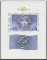 Slovakia 1999 50Y Council Of Europa M/s  ** Mnh (44612E) ROCK BOTTOM PRICE - Europese Gedachte