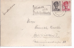 AK-div.26- 240 -   Misch  - Frankatur Saarland - Trauerkarte Mit Anlage  Sterbebild - Franse Zone