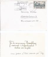AK-div.26- 241 -     Frankatur Saarland - Vermählungskarte - Zona Francese