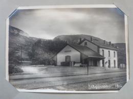 Aveyron, Aguessac, La Gare, 1912, Photo. - Trains