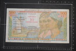 Billet, REUNION, 500 Francs Contre Valeur De 10 Nouveaux Francs Institut D'Emission Des Départements D'Outre Mer - Réunion