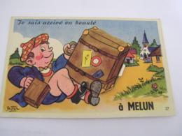 C.P.A.- Melun (77) - Carte à Système - Je Suis Arrivé En Beauté - 10 Vues - 1935 - SUP (CP 98) - Melun