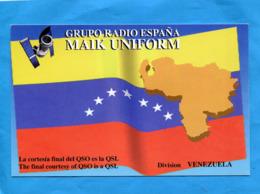 Carte Illustrée-Drapeau- RADIO-GRUPO RADIO ESPANA-DIVISION VENUELA - Venezuela