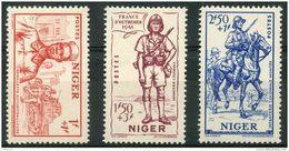 Niger (1941) N 86 à 88 * (charniere) - Unused Stamps