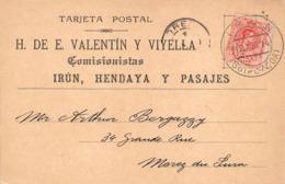 Irun Hendaya Hendaye Pasages Carte Commerciale Valantin Viyella - Guipúzcoa (San Sebastián)