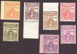 "Tunisie  1923-1929 - Timbres Postaux Imprimés ""CHIFFRE-TAXE"" # MNH # 7 Valeurs - Tunisie (1888-1955)"