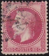 France  .   Yvert   .     32      .     O          .       Oblitéré - 1863-1870 Napoléon III Lauré