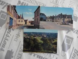 LOT DE  3  CARTES  POSTALES   VIERGES    DE  CHENIERS    (CREUSE ) - 5 - 99 Cartes