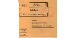 Allemagne  - Colis Postal  Départ Hartha  -- 01/2/1943 - Allemagne