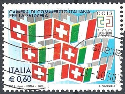 Italia, 2009 Camera Di Commercio Italiana Per La Svizzera 0.60 € # Sassone 3082 - Michel 3291 - Scott 2922 USATO - 6. 1946-.. Repubblica