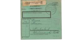 Allemagne  - Colis Postal  Départ Weismes ( Kr Malmedy  )  --02/2/1943 - Duitsland