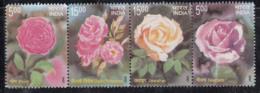 Horizontal Se-tenent, India MNH 2007, Roses. Rose Flower, Plant - India